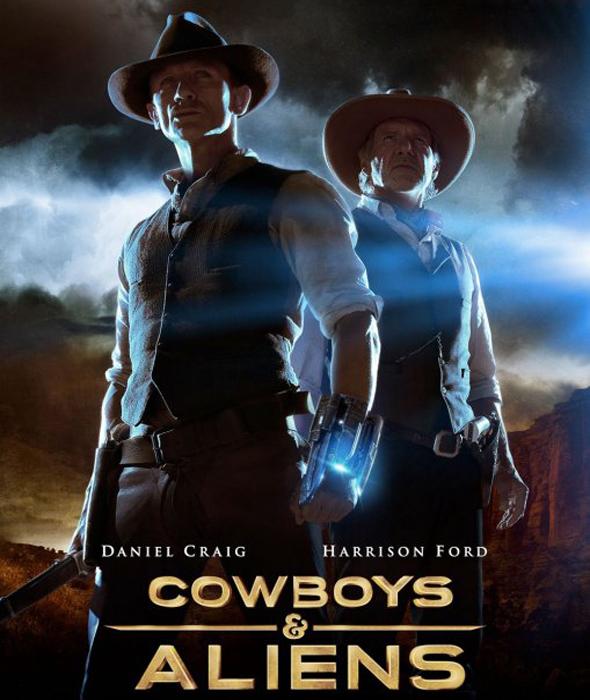 Poster Final Cowboys y Aliens Interior