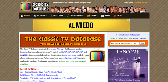 The Classic TV Database