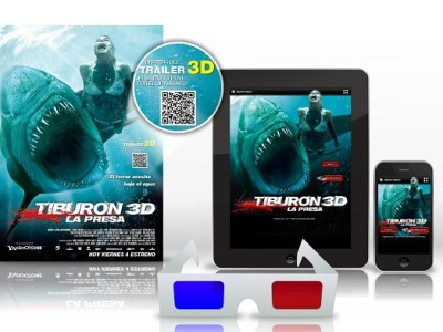 Tiburón 3D móvil Interior