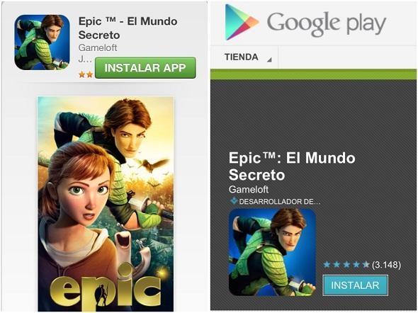 EPIC.App Store y Google Play