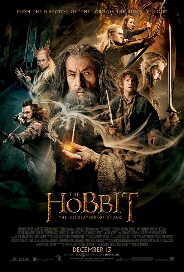 Póster final de 'El hobbit: La desolación de Smaug'