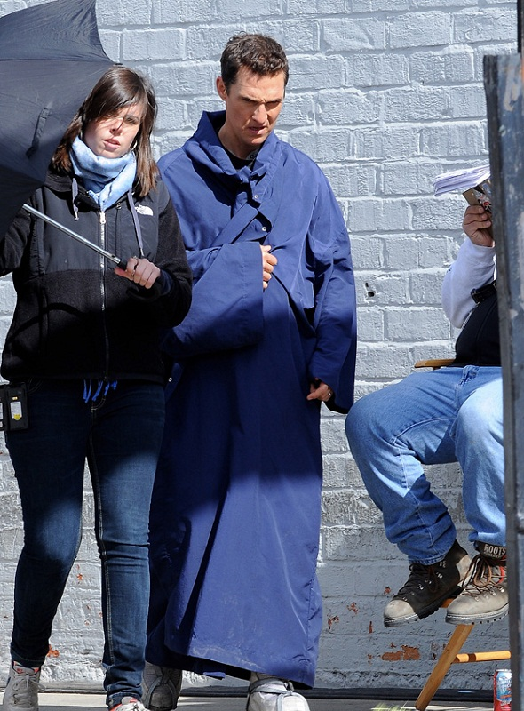 Matthew McCounaghey en el rodaje de 'Interstellar'