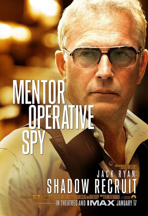 Kevin Costner en el póster de 'Jack Ryan: Operación Sombra'