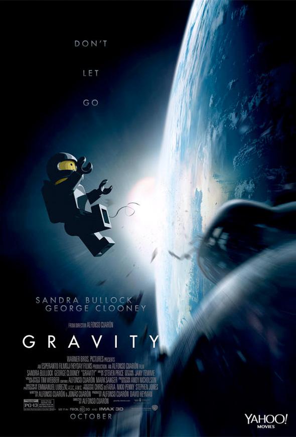 Póster de Lego para 'Gravity'