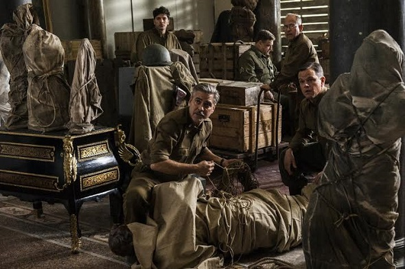 George Clooney, Matt Damon y el resto de la troupe de 'Monuments men'