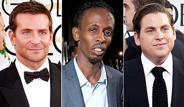 Bradley Cooper, Barkhad Abdi y Jonah Hill.