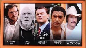 Nominados al Oscar al Mejor Actor 2014
