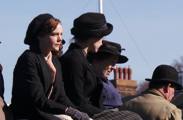 Carey Mulligan en el rodaje de 'Sufragette'