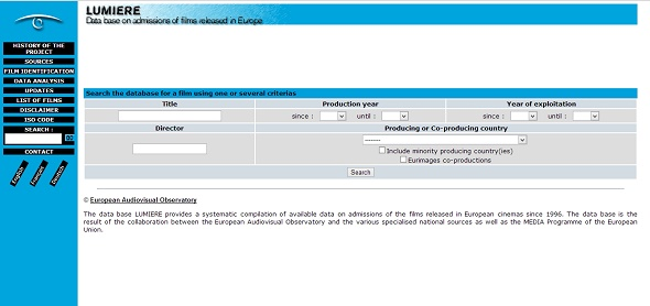 Lumiere - Data base on admissions of the films released in European