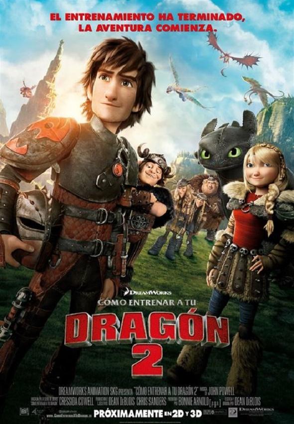 Póster en español de 'Cómo entrenar a tu dragón 2'