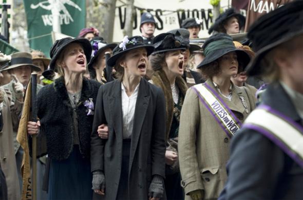 Carey Mulligan y Helena Bonham Carter en 'Sufragette'