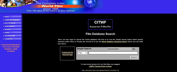 CITWF Film Database