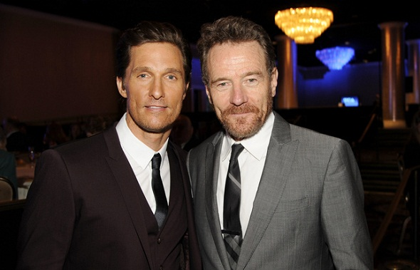 Matthew McConaughey y Bryan Cranston, dos de los triunfadores de la noche