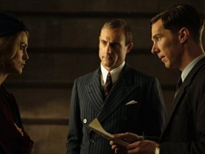 Keira Knightley, Mark Strong y Benedict Cumberbatch en 'The imitation game'