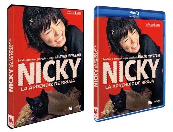 Nicky la aprendiz de bruja. Edición DVD y BD