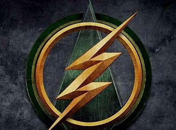 Logo del crossover de The Flash vs Arrow