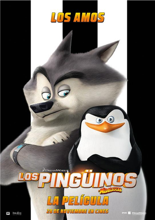 Póster de  'Los Pingüinos de Madagascar: la película (The Penguins of Madagascar)