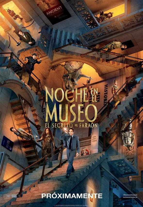 Póster en español de Noche en el Museo: El secreto del Faraón (Night at the Museum: Secret of the Tomb)