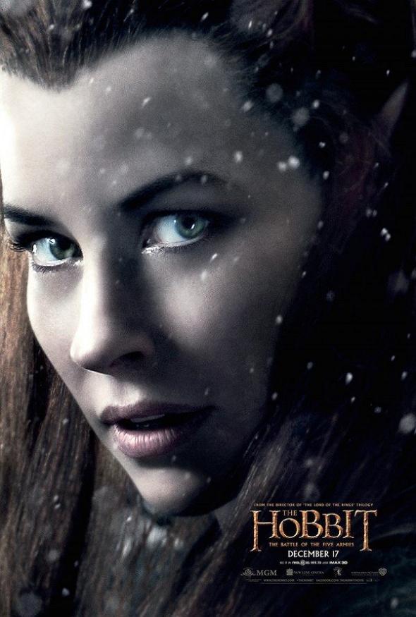 Evangeline Lilly en el póster de El Hobbit: La batalla de los cinco ejércitos (The Hobbit: The Battle of the five Armies)