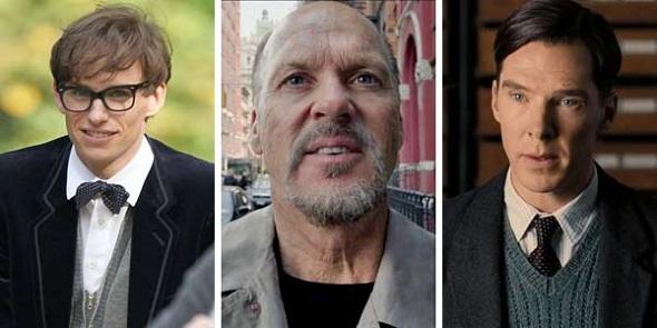 Eddie Redmayne, Michael Keaton y Benedict Cumberbatch, nominados