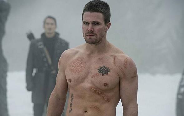 Oliver Queen en un fotograma de Arrow