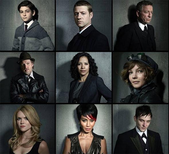 Una imagen con los principales protagonistas de 'Gotham'
