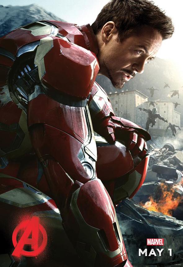 Iron Man en el póster de 'Vengadores: la era de Ultrón (Avengers: Age of Ultron)'