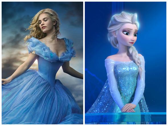 Imagen de Ella y Elsa, de Cenicienta y Frozen