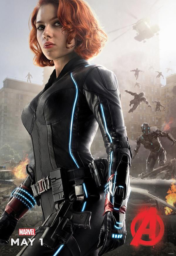 Póster de la Viuda Negra en Vengadores: la era de Ultrón (Avengers: age of Ultron)