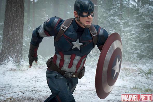 El Capitán América (Chris Evans) en un fotograma de 'Vengadores: la era de Ultrón'