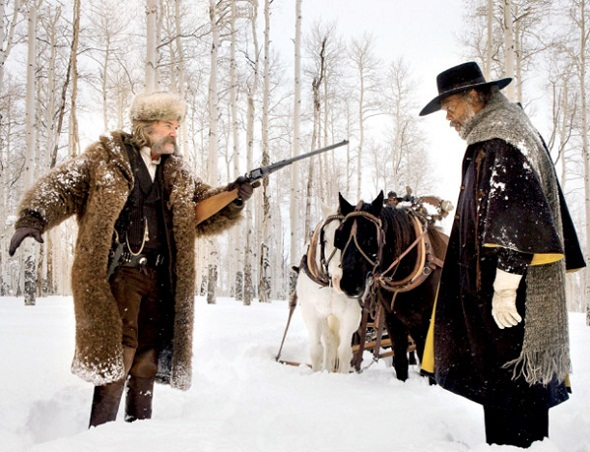 Russell y Jackson en 'The hateful eight'