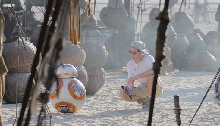 Momento del rodaje del Episodio VII de 'Star Wars'