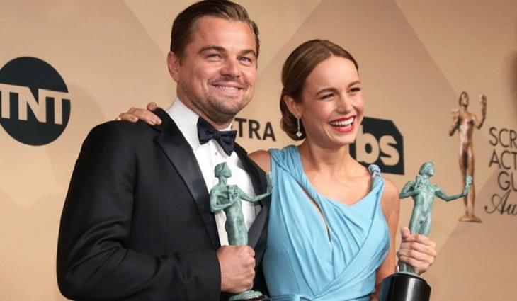 DiCaprio y Larson, premiados por el Sindicato de Actores