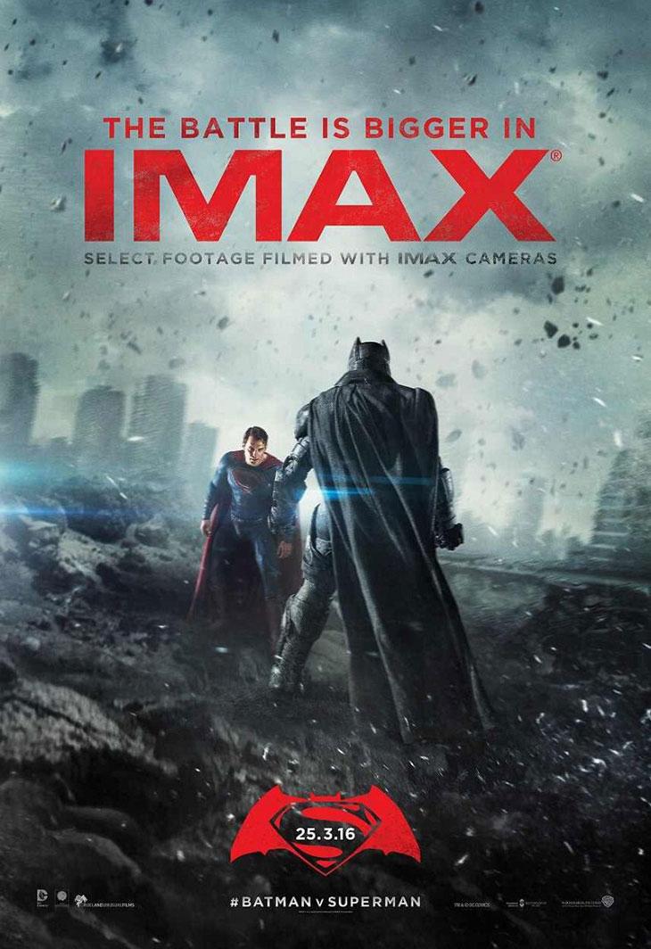 Póster IMAX de Batman v Superman: el amanecer de La Justicia