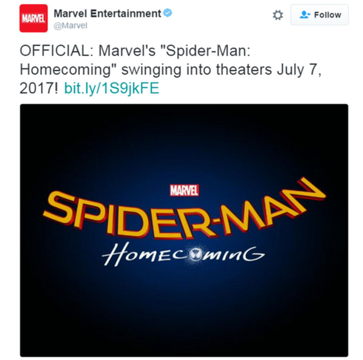 Logo de Spider-Man: Homecoming