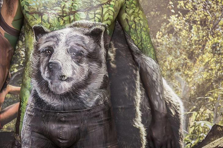 Baloo en el Póster humano de 'El Libro de la Selva'