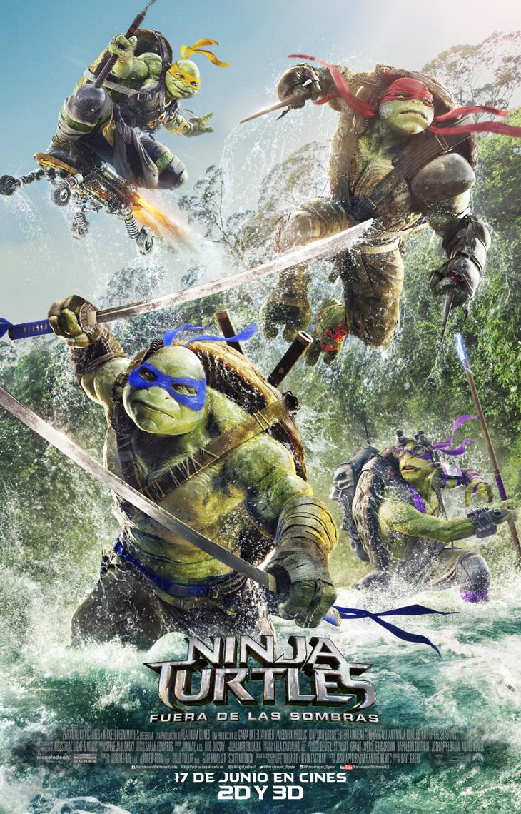 'Ninja Turtles: fuera de las sombras' Nuevo Tráiler, Póster definitivo y nuevos banners de personajes