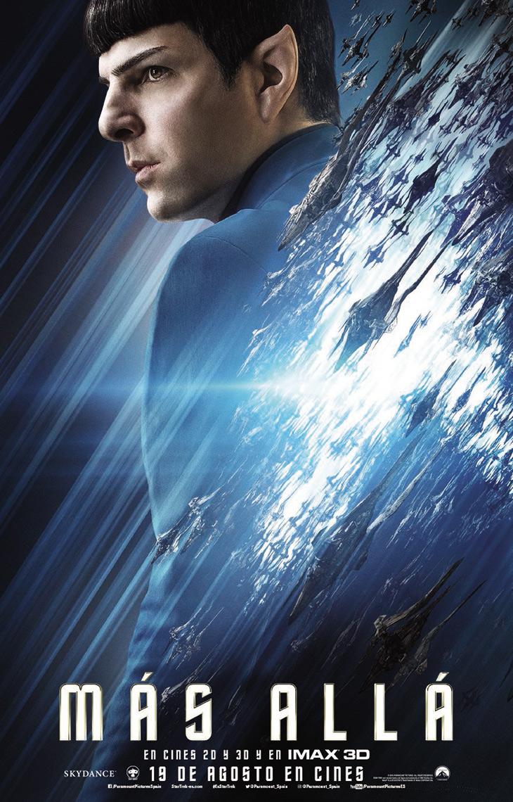 Cartel Spock en Star Trek: más allá