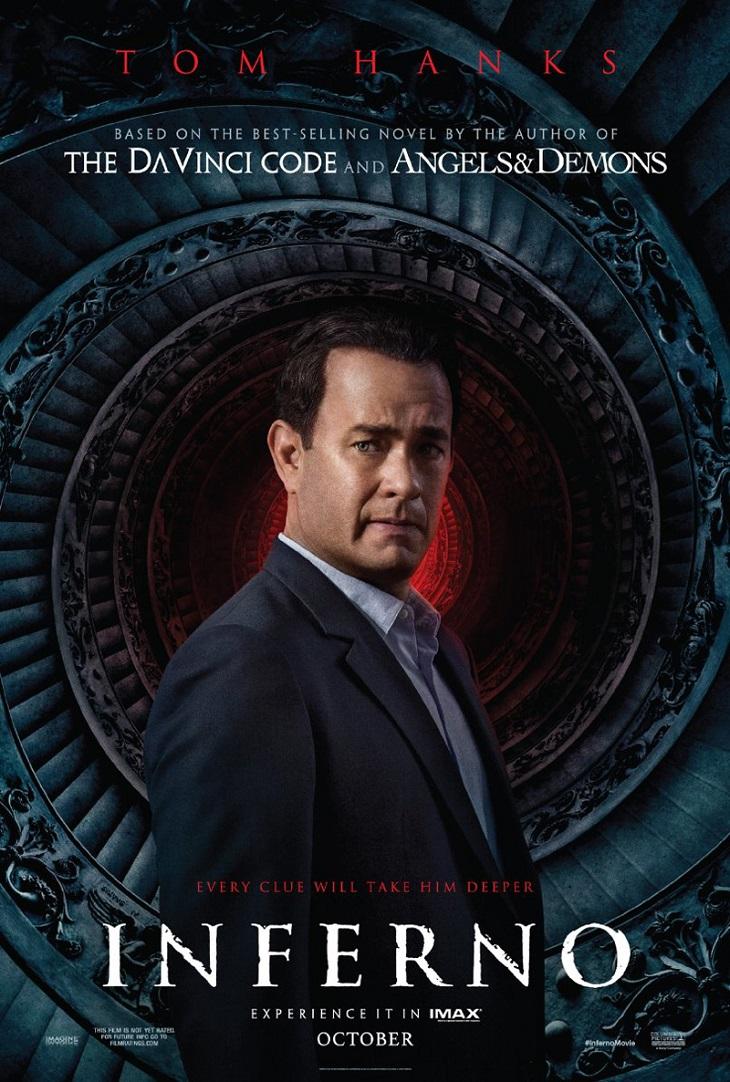 Tom Hanksen el nuevo póster de 'Inferno'
