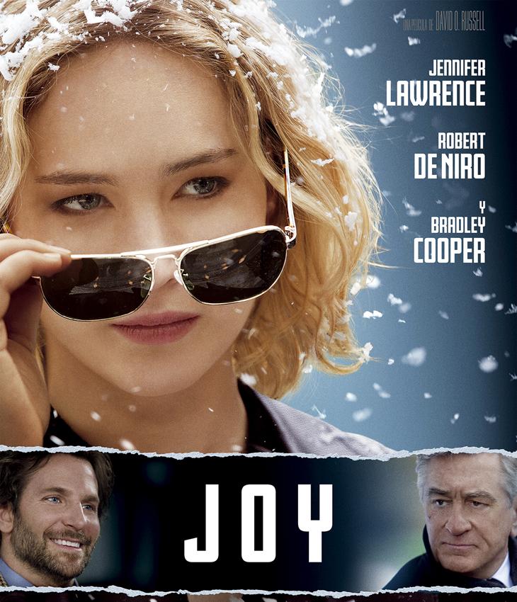 'Joy'  del director de El lado bueno de las cosas' y 'La gran estafa americana' y protagonizada Por Jennifer Lawrence, Robert De Niro y Bradley Cooper