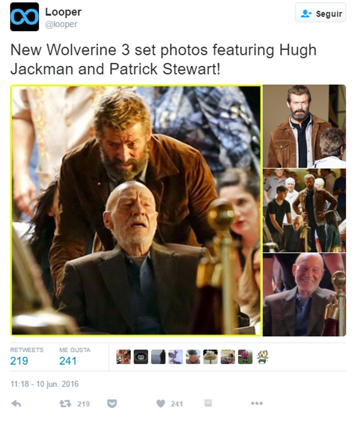 Hugh Jackman y Patrick Stewart en Wolverine 3