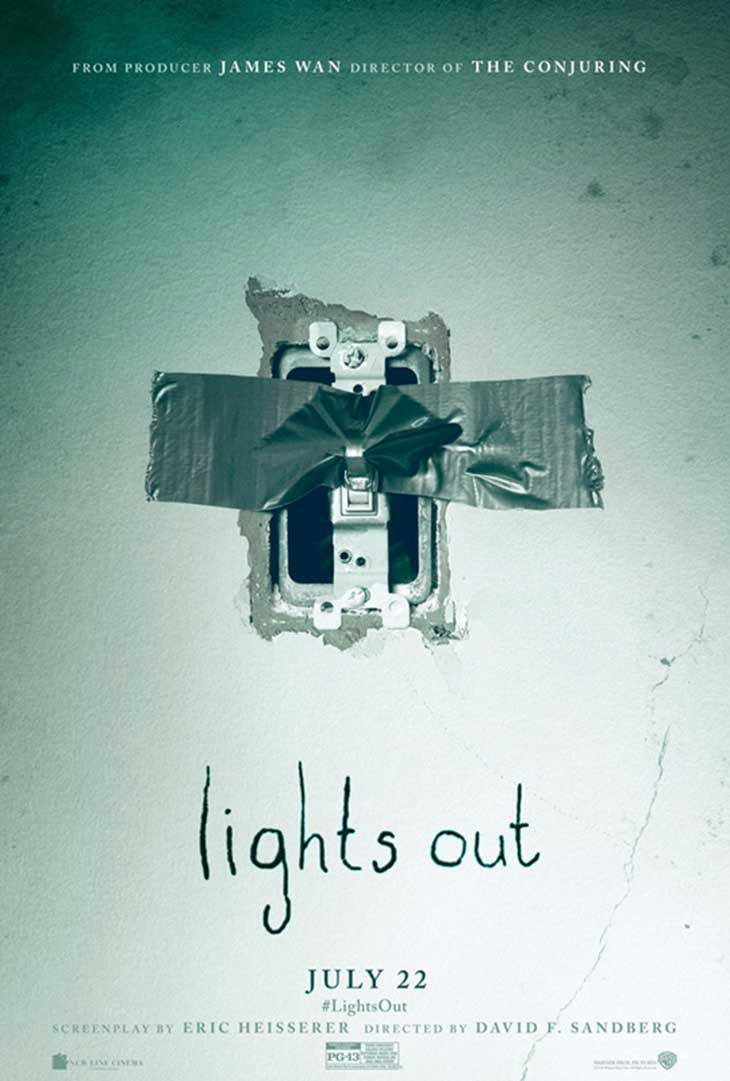 Póster en inglés de Nunca apagues la luz (Lights out)