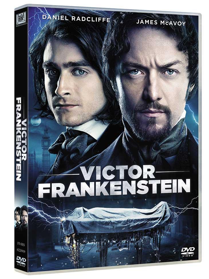 Portada DVD de 'Victor Frankenstein'