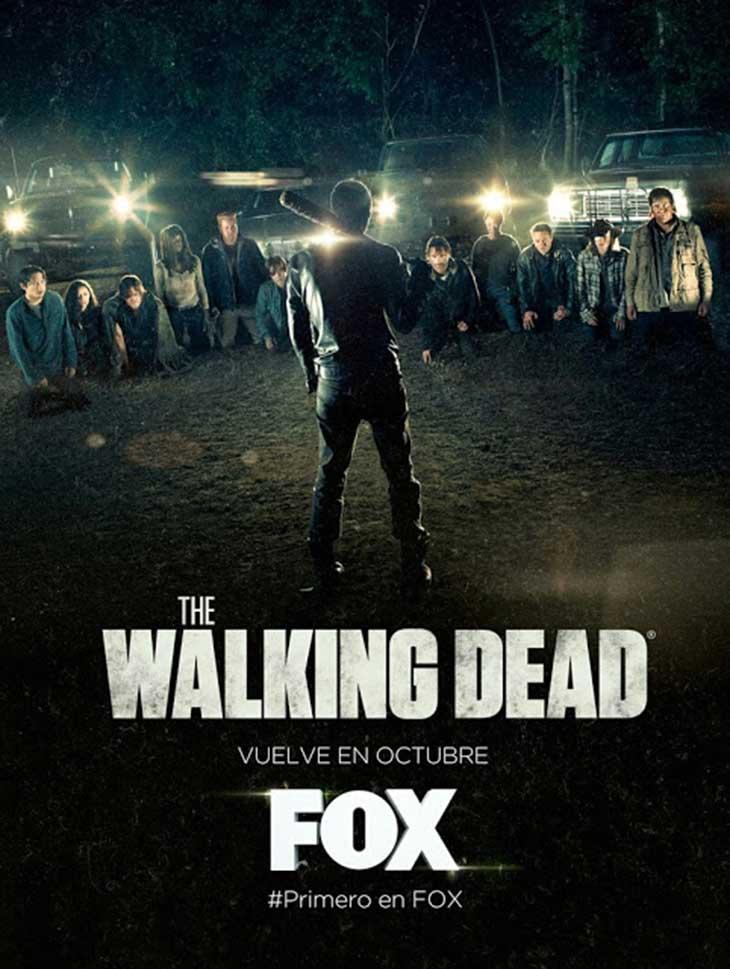 Póster oficial en español de la séptima temporada de 'The Walking Dead'
