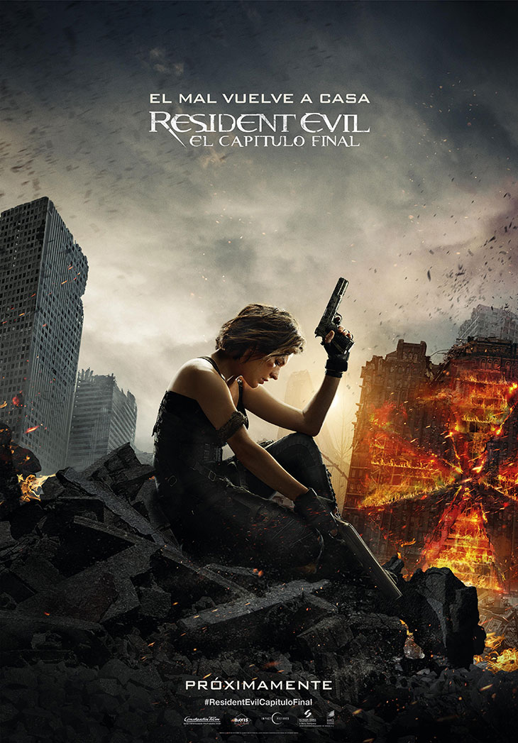 Póster en español de Resident Evil: el capítulo final
