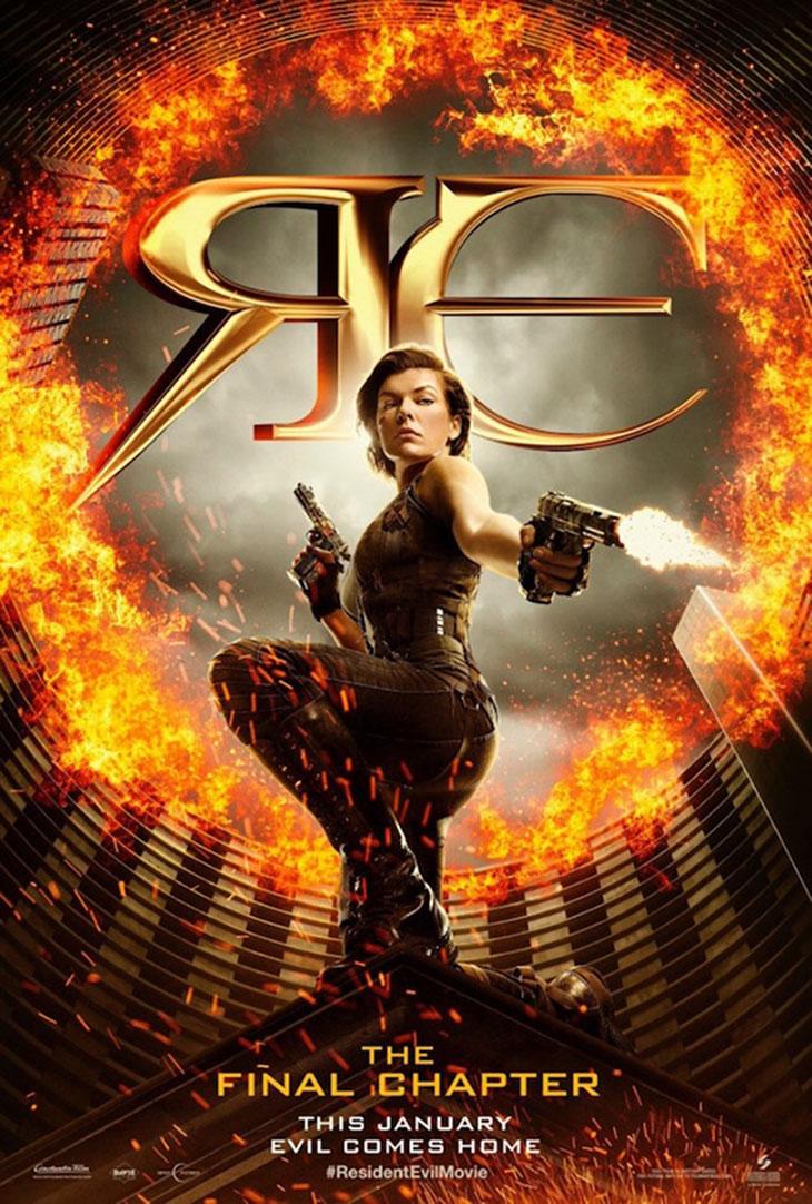 Póster de 'Resident Evil: el capítulo final'