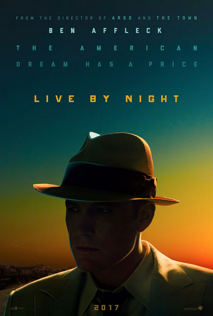 Póster de Live By Night, con Ben Affleck