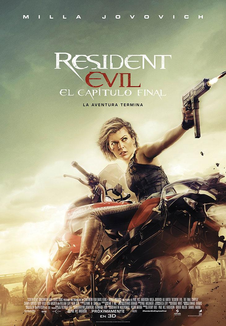 Cartel oficial en español de 'Resident Evil: el capítulo final'