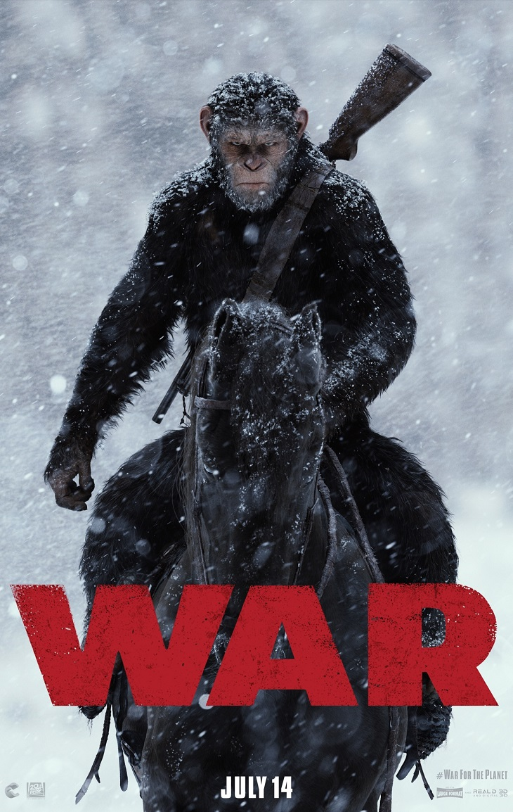 Póster de 'War for the planet of the apes'