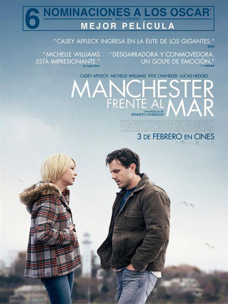 Póster en español de 'Manchester frente al mar'
